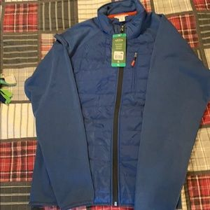 NWT Orvis mixed media quilted jacket